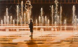 Boy in Fountain